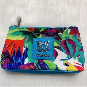 Love Moschino I Love Parrot Tropical Cosmetic Bag